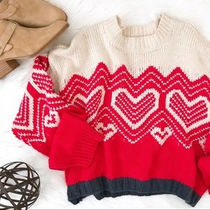 Free People 'I Heart You' Sweater